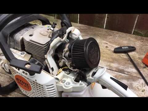 Stihl MS311 with pro saw air filter kit