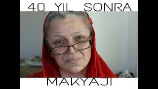 YAŞLANDIRMA MAKYAJI (40 YIL SONRA BEN :) || OLD AGE MAKE UP TUTORIAL