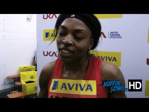Nuffin'Long TV (Indoor 200m Trials) - Post Race Interview with Margaret Adeoye (HD)