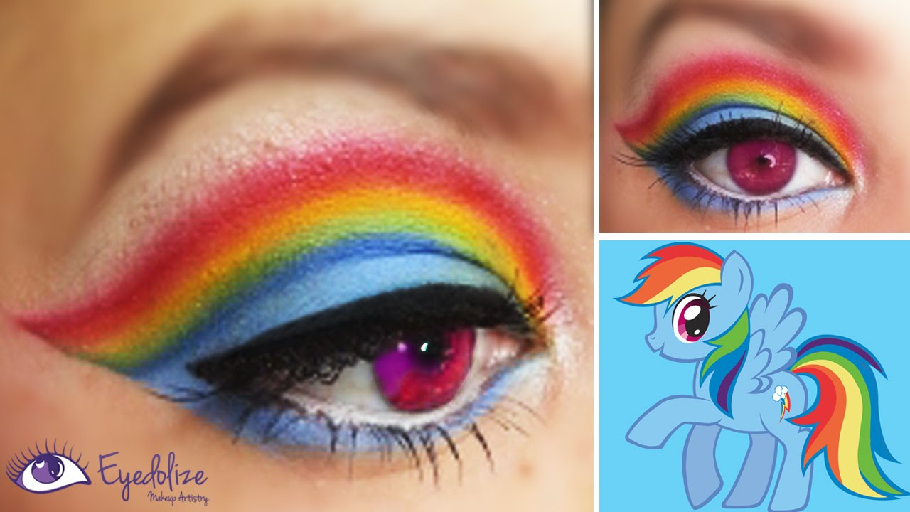 Rainbow Dash My Little Pony Inspired Makeup Eyeshadow