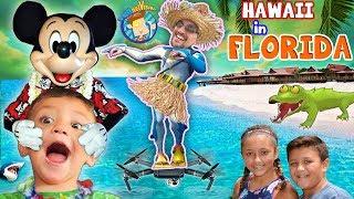 HAWAII in FLORIDA! Disney's Polynesian Resort Hotel! FUNnel Family Learns to Hula vlog
