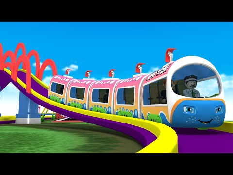 Toy Train Cartoon Factory: Choo Choo Cartoon Train Videos for Kids | Train Videos Toy Factory