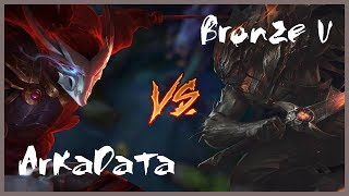 ArKaDaTa vs Bronze V - WHO IS BEST ? - YASUO MONTAGE   League of Legends/ RIoTreplays