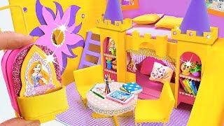 DIY Miniature Dollhouse Room ~ Rapunzel Room Decor, Backpack