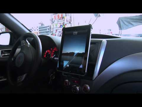 iPad in Car - Scosche Dash Kit for iPad
