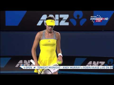 ? [HD] Ana Ivanovic sexy hot - pokies - Australian Open 2013 - 1st round ?