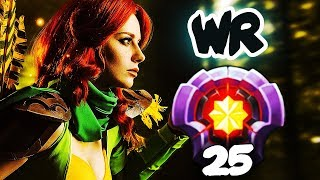 FIRST LEVEL 25 WINDRANGER Divine Rank - HOW TO RAMPAGE in 3sec? CRAZY Gameplay Dota 2