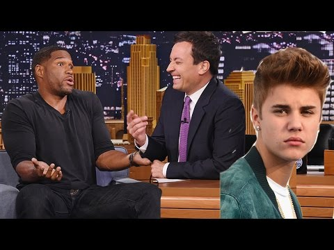 Justin Bieber Dissed by Michael Strahan on Jimmy Fallon's Tonight Show