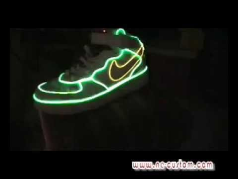 Glowing shoes with nike air force 1 design-2