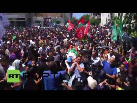 State of Palestine: Hamas' military chief's wife and child farewelled in Gaza