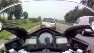 Honda VFR 800 on German Autobahn - Part 2
