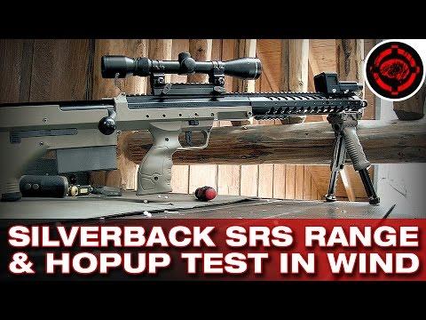 Silverback Desert Tech SRS Range & Hopup Test in Strong Wind