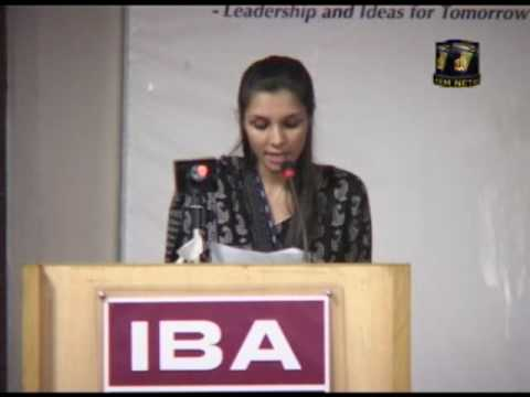 10/10 Seminar on Drug Abuse at IBA  Karachi (Arrahman Arraheem)