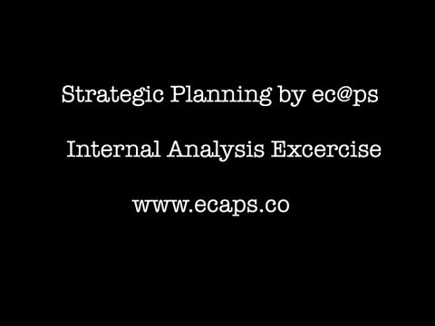 Strategic Planning- Internal analysis of your organisation