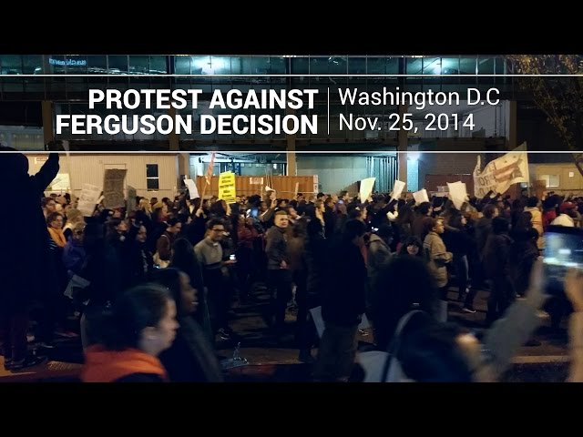 VIDEO: DC Protesters Endorse Behavior of Ferguson Rioters