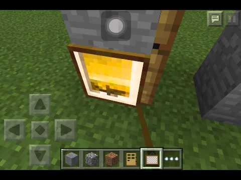 วิธีทำประตูลับ minecraft pe 0.9.5