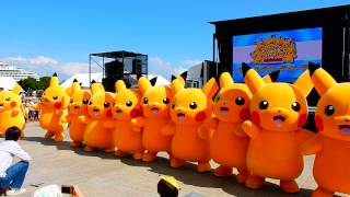 Pikachu event 2015 -- line dance