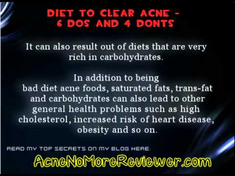 Diet Plan To Clear Acne - Yes Diet Affects Acne
