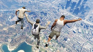 Epic Jumping Into Pool from the Highest Point in GTA 5! (Funny Moments)