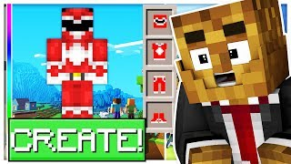 *BRAND NEW* BUILD YOUR FAVORITE POWER RANGER! - MINECRAFT MODDED POWER RANGER CREATOR