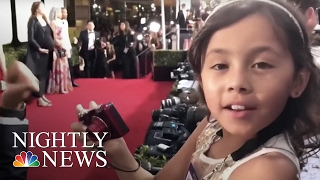 Inspiring America: 8-Year-Old Cancer Survivor Charms Golden Globes Red Carpet | NBC Nightly News