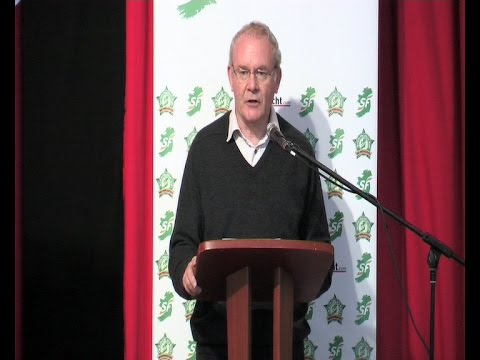 Major speech by Martin McGuinness at Sinn Féin 'think In'