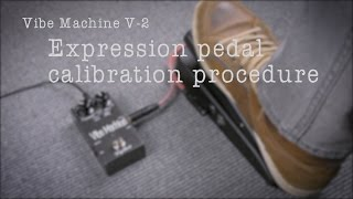 EXPRESSION PEDAL CALIBRATION PROCEDURE AND TIPS - DryBell Vibe Machine V-2 Options Manual