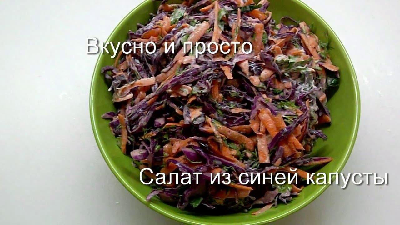 Вкусный салат с синей капусты рецепт фото