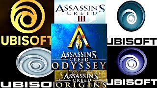 Evolution Of Ubisoft Logo + Assassin's Creed  All Games LOGO 2007-2018