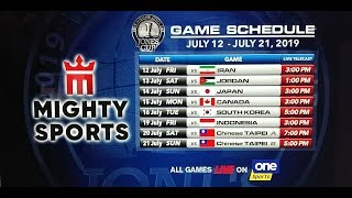 JULY 13: 41st William Jones Cup: Mighty Sports - Go for Gold vs Jordan