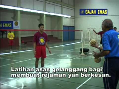 Sepaktakraw   Asas Sepaktakraw   Gajah Emas   Malaysia - Fundamentos Do Sepaktakraw video