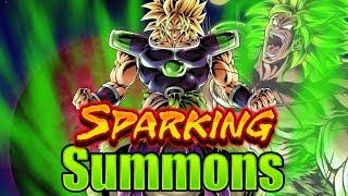 Sparking Super Saiyan Broly Summons    Dragon Ball Legends