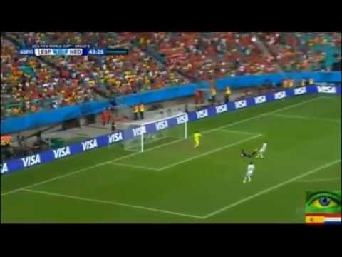 FIFA World Cup 2014 Holland vs Spain Match Robin van Persie Goal