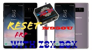 REMOVE FRP samsung N950U/Note 8 T-mobile with Z3X BOX