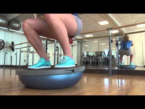 Westin Riverfront Mikaela Shiffrin Ski Conditioning: Bosu Ball
