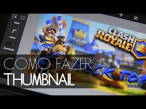 Como fazer Thumbnail pelo celular e postar no Youtube