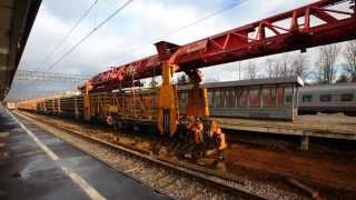 [RZD][2160p] Second main track reconstruction, Novgorod-na-Volkhove station