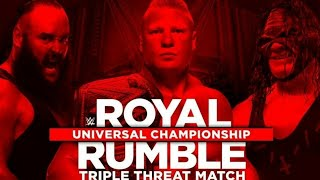 WWE Royal Rumble 2018 Full Match Card