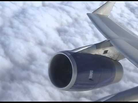 BA B747 LHR to LAX (PART 1 No Music) - Take Off and Scenes
