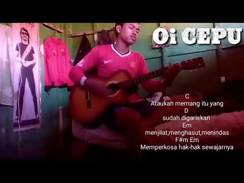 Cover Sumbang - Iwan Fals by Oi Cepu   Plus Chord dan lirik lagu     Tutorial