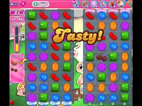 Candy Crush Saga Level 66 - 2 Star - no boosters