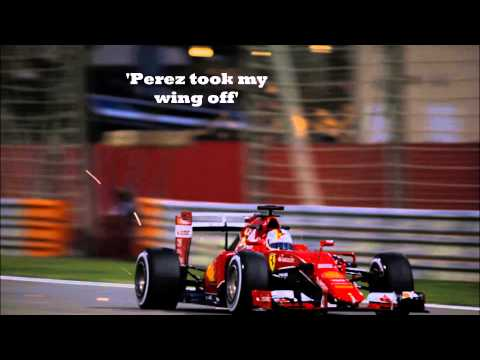 Sebastian Vettel ANGRY team radio Bahrain 2015