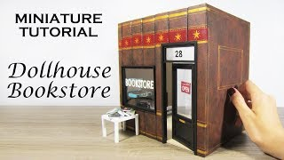 DIY Miniature: Dollhouse Bookstore