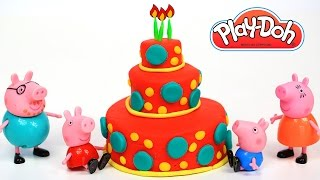 Peppa Pig Play Doh Birthday Cake Food Happy Birthday Toys