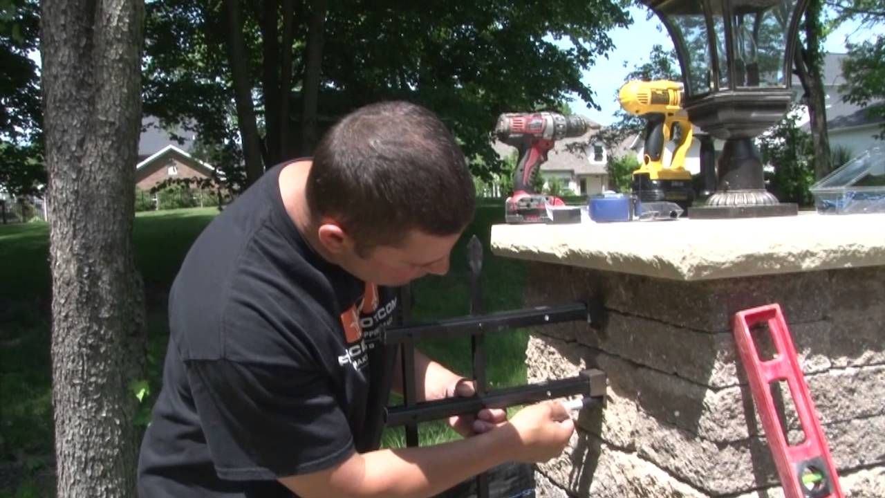 Aluminum Fence How To Install Aluminum Fencing Wall