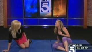 Mary Beth McDade - Stilettos and Self Defense (KTLA - Weekends - April 17th 2011)