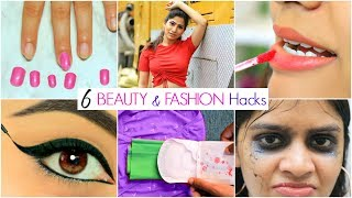 6 Life Saving BEAUTY & FASHION Hacks | #Fun #ShrutiArjunAnand #Anaysa