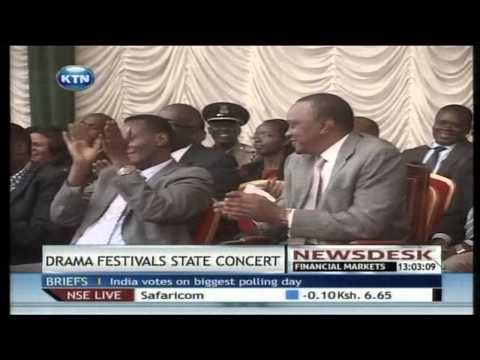 President Uhuru Kenyatta hosts Drama festivals gala