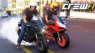 THE CREW 2 - MANDEI 300km/h com a MOTO NINJA H2!!! (LACREI)