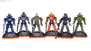 Mega Bloks Halo Heroes Series 2 review All 6 figur